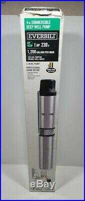 Everbilt EFSUB10-253HD 1 HP Submersible 3 Wire Motor 20 GPM Deep Well Water Pump