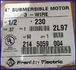 FRANKLIN 1/2 HP Deep Well Submersible Pump Motor Super Stainless 2145059004