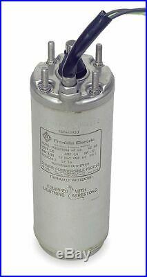 Franklin 3/4 HP Deep Well Submersible Pump Motor, Split-Phase, 3450 Nameplate