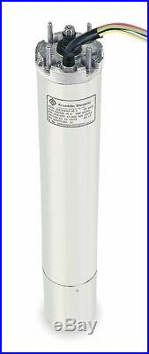 Franklin 3 HP Deep Well Submersible Pump Motor, 3-Phase, 3450 Nameplate RPM, 460