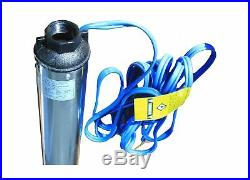 Hallmark Industries MA0343X-4 Deep Well Submersible Pump, 1/2 hp, 110V, 60 Hz