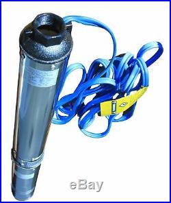 Hallmark Industries Submersible Pump Deep Well 1 HP Stainless Steel 110V 60Hz