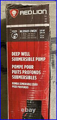 NEW Red Lion (14942402) 4 Deep Well Submersible Pump with Control Box UNTESTED