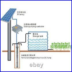 PV Solar Panel +12V/36V Solar Deep Well Screw Irrigation Water Pump With MPPT