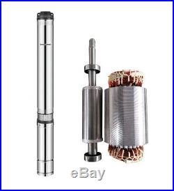 SCHRAIBERPUMP 4 Deep Well Submersible Pump 3HP 230v 204ft 75GPM 88maxPSI 2wire