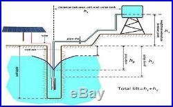 Solar DC12V/24V 20-80M Water Pump Submersible Deep Well Bore Pump for Farm Field
