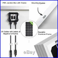 Solar Panel Deep Well Pump Bore High Flow Garden Submersible Pump Complete Kit