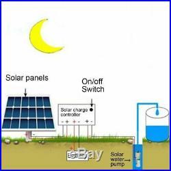 Solar Water Pump Deep Well DC Screw Submersible Pump Irrigation Garden Home Kits