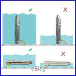 Submersible Deep Well Water Pump 12V DC Solar Energy Water Pump 110W 2M³/H