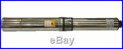 Submersible Pump 4 Deep Well 1 HP 220V 33 GPM, 207 ft Max long life New
