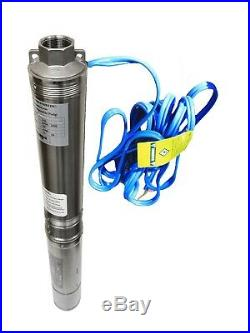 Submersible Pump, Deep Well, 4, 1/2HP, 110V, 25 GPM, 150 feet, all S. S